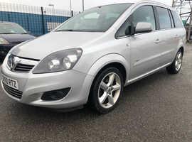 Vauxhall Zafira, 2010 (60) Silver MPV, Manual Diesel, 117,948 miles