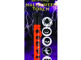 Halloween Torch With 5 Image Covers