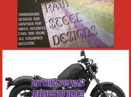 Airbrush motorbike design