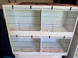 Cage bird breeding cages.