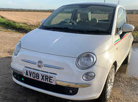 Fiat 500, 2008 (08) White Hatchback, Manual Diesel, 88,890 miles