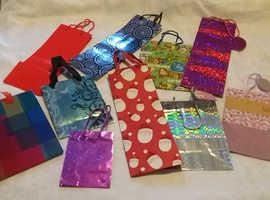 Gift Bags & Tags Vibrant Glossy Shimmer Large Medium Small Job Lot