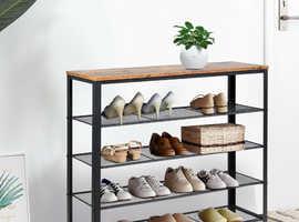 COSTWAY 5-Tier Industrial Shoe Storage Organizer HW65781
