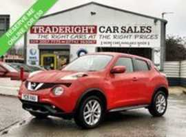 2015/15 Nissan Juke 1.2 DIG-T Acenta finished in Bright Red, 56,576 miles