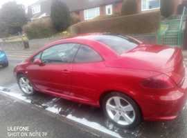 Peugeot 307, 2007 (56) Red Coupe, Manual Petrol, 98,000 miles