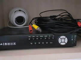 Security camera and Dvr Box with hard drive in it.