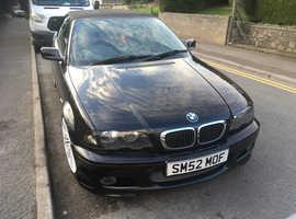 BMW 3 Series, 2002 (52) Black Convertible, Manual Petrol, 120,000 miles