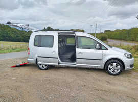 VW Caddy wav for sale, 2013/63 reg, 5 seats plus wheelchair or mobility scooter access, remote turny evo front seat, free delivery