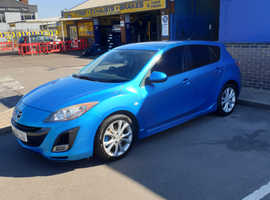Mazda MAZDA 3, 2010 (59) Blue Hatchback, Manual Diesel, 108,000 miles