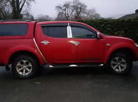 Mitsubishi L200, 2010 (60) Red 4x4, Manual Diesel, 90,000 miles