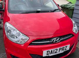 Hyundai i10, 2012 (12) Red Hatchback, Manual Petrol, 43,653 miles