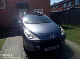 Peugeot 307, 2008 (08) Grey Estate, Manual Diesel, 160,000 miles