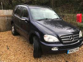 Mercedes M-CLASS, 2003 (52) blue 4x4, Automatic Diesel, 120000 miles