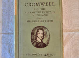 1956, Antique, Oliver Cromwell by Sir Charles Firth, Hardback Book, Oxford Press