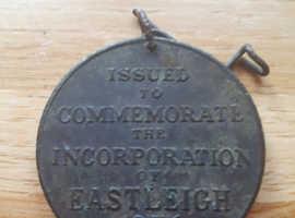 Bronze medal coin eastleigh comemarative medal
