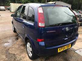Vauxhall Meriva, 2004 (54) Blue MPV, Manual Petrol, 112,000 miles, MOT Jan 2020