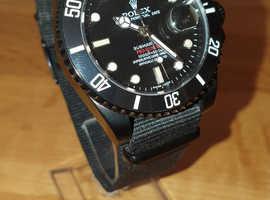 Rolex Submariner Prohunter in Black