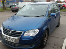 Volkswagen Touran, 2007 (57) Blue MPV, Manual Diesel, 122,405 miles
