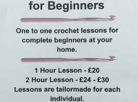 Beginners Crochet lessons at your home.