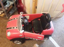 Pink Childs Push-Along Mini Car.