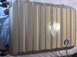 Rose gold suitcase