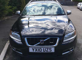 Volvo V70, 2010 (10) Black Estate, Manual Diesel, 80,000 miles
