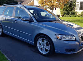 Volvo V50 2.0D SE, 2009 Blue Estate, Manual Diesel, 79,000 miles