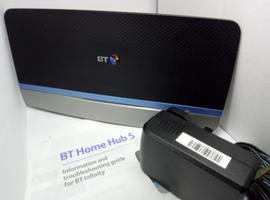 BT Home Hub 5 Infinity Fibre ADSL Dual Band Wireless Router