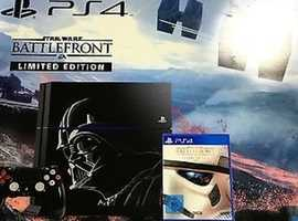 Sony PS4 battlefront limited edition 1tb console brand new never unboxed. With