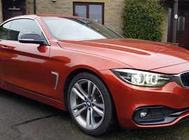 BMW 4 Series, 2017 (17) Orange Convertible, Automatic Diesel, 20,000 miles
