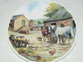 Royal Doulton Collectors Plate - Drinking Companions From Farmyard Companions PN28