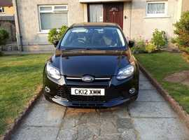 Ford Focus, 2012 (12) Black Hatchback, Manual Petrol, 64,000 miles