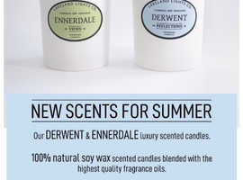 New Scents for Summer - 2 new scented handmade candles now added to our range!!