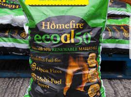 15 bags of new unopened ecoal smokeless  £30