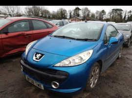 Peugeot 207, 2008 (08) Blue Convertible, Manual Petrol, 91,423 miles