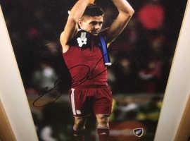 Liverpool Legend Stephen Gerrard Signed Framed Photo