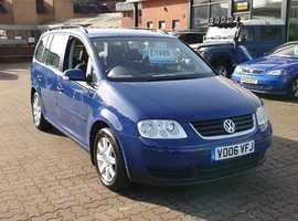 Volkswagen Touran, 2006 (06) Blue MPV, Manual Petrol, 121,046 miles