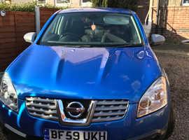 Nissan Qashqai, 2009 (59) blue hatchback, Manual Diesel, 140,385 miles