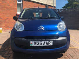 Citroen C1, 2008 (08) Blue Hatchback, Manual Petrol, 90,000 miles