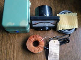 Amperes 200 amp meter & adapter box, transformer 1970's model never used