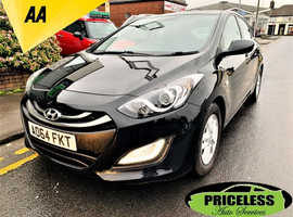 Hyundai i30, 2014 (64) Black Hatchback, Manual Diesel, 93,035 miles