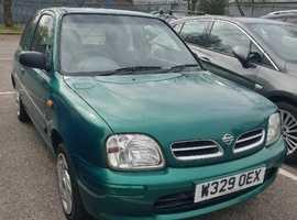 Nissan Micra, 2000 (W) Green Hatchback, Manual Petrol, 49,000 miles