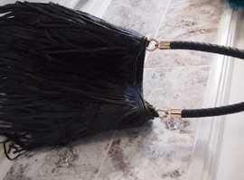 Asos Black fringe bag