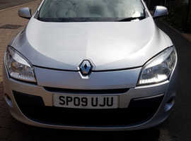 2009 Renault Megane, Manual, Low mileage. £30 per year tax! Very Economical!