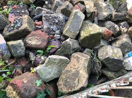 Various sandstone rocks/bricks