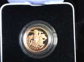 2005 proof full 22 carat gold Sovereign