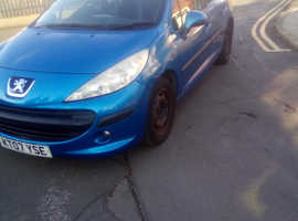 Peugeot 207, 2007 (07) blue hatchback, Manual Petrol, 96,306 miles