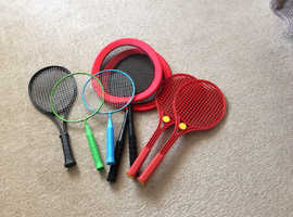 Various children's bats/rackets - free