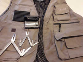 Fly fishing vest and multi tool