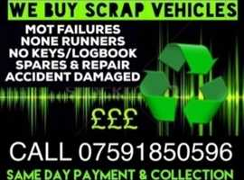 Wanted scrap cars vans any vehicle condition make or model scrap recycle dispose uplift a car today
